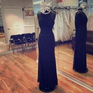 Dresses & Skirts - Halter dress with pearl and rhinestone neckline